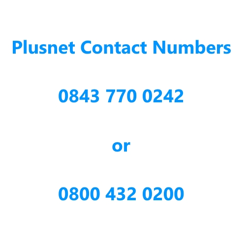 Plusnet contact number
